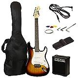 RockJam RJEG02-SK-SB Guitare Electrique, Sunburst