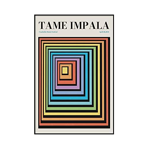 Domando el Impala en Glastonbury, mostrando carteles y grabados, cuadros de pared abstractos vintage, cuadros en lienzo sin marco A4 30x45cm
