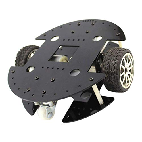 YONGTOKU Robot Model Kit Chassis Four-wheel Platform Gear Motor met drie wielen Drive Motors