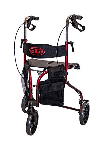 Antar 14131 Delta loopwiel, rollator met 3 wielen en afneembare tas