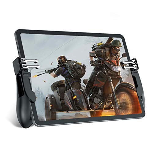 Mobile Game Controller for iPad/Tablets, EMISH Six Finger Game Joystick Handle Trigger Aim Button L1R1 Shooter Gamepad for PUBG/Fornite/Knives Out 6 Button Game Controller