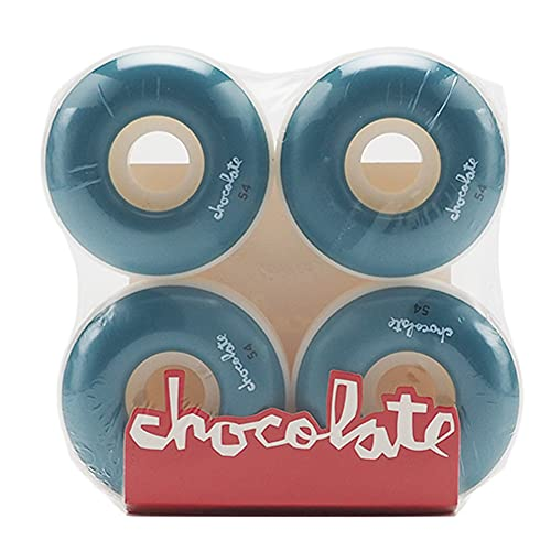 CHOCOLATE チョコレート ウィール スケートボード スケボー 54mm/99du OG CHUNK STAPLE WHEEL Blue [並行輸入品]