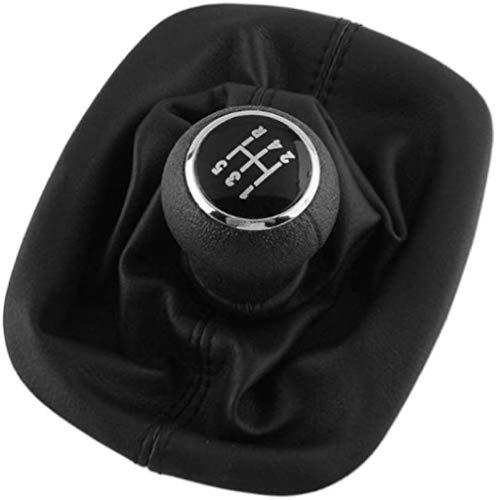MWTTXX Pomo de palanca de cambios para interior del coche, 5 velocidades, palanca de cambios, funda de palanca de cambios, para Passat B5