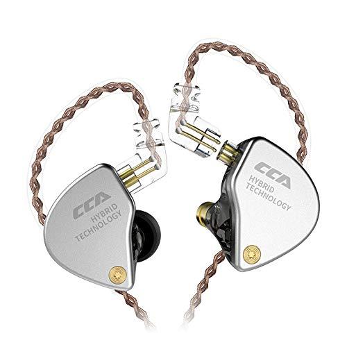 CCA CA4 hoofdtelefoon 1DD 1BA Monitor Hybrid technologie HiFi Bass oortelefoon Sport Noise koptelefoon Cancelling headset Ohne mic zwart
