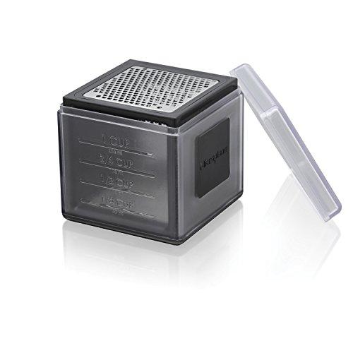 Microplane Cube Reibe Fein, Grob und 2-Wege-Schneide Schwarz Edelstahl