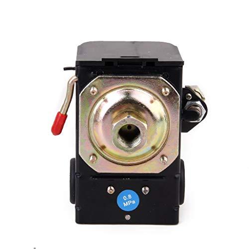 Yongenee La válvula de Control del Interruptor de presión del compresor 220V Normalmente Cerrado 72 181PSI SG 5A