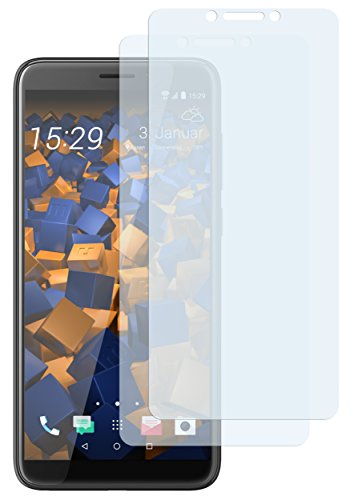 mumbi Schutzfolie kompatibel mit HTC Desire 12 Folie klar, Bildschirmschutzfolie (2X)