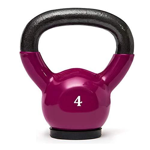 Kettlebell WXYZ Dominante di Colore del Ferro, Base di Gomma for Proteggere Il Pavimento, Home Gym Cross Training, Weight Loss Forza 4 kg di Formazione, 6kg, 10kg (Size : 4kg)