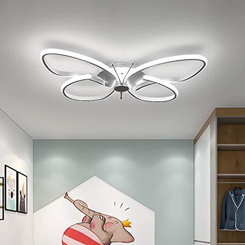 RUNNUP Kinder Schlafzimmerlampe Deckenleuchte Modern Kreative Design Schmetterlingsform Metall Acryl Kinderlampe Deckenlampe Ultraslim Lampe für Wohnzimmer Zuhause Kinderzimmer 22W 6000K-White light