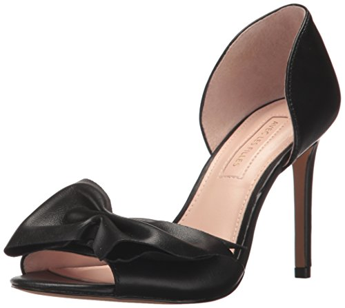 Avec Les Filles Women's Jada Heeled Sandal, Black Nappa, 9 M US