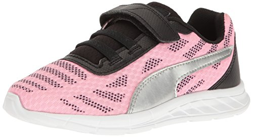PUMA Girls' Meteor V PS Boat Shoe, Soft Fluo Pink Silver, 1.5 M US Little Kid