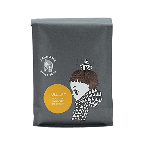 Akha Ama Whole Bean Coffee Blend, Thai Coffee Beans, Single Origin Roasted Coffee Bean from Thailand, 8.8 oz. / 250 g. (Pack of 1) (Full City, 8.8 ounces)