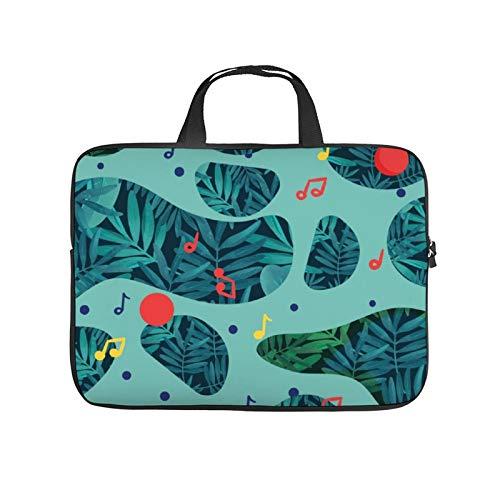 17inch Laptop Shoulder Messenger Bag, Laptop Case, Pattern Turquoise Aqua Organism Teal Leaf Design Plant, Laptop Shoulder Bag, Messenger Bag Case, Business/Office/Work Bag