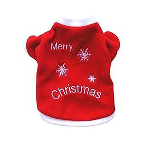 Scorx Un ensemble de t-shirts d'animal familier de noël chats et chiens de cachemire chauds Cadeaux de Noël