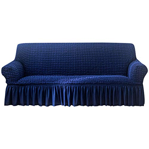 HAIFEI Super Stretch Couch-Abdeckung, Schutzbezug, Sofa-Schonbezüge für Kinder und Haustiere, dick, weich, rutschfest (AW13, 1-Sitzer)