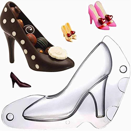 lingyagaofeng 2021 Neue Deluxe 3D High Heel Form - 2 Stück Stiletto Heels Schuh Fondant Praline Praline Schimmel Bundle Moulding, für DIY Hochzeit Geburtstagsfeier Kuchen Dessert Dekoration (M)