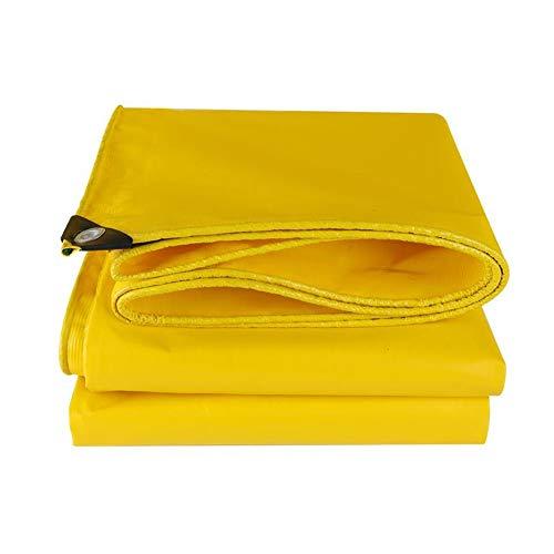 XF Planen & Spanngurte Planen-PVC Hochleistungsplanen Regenschutz Sonnenschutz verschleißfest gelb 500g / m2-0.4mm Planen & Spanngurte (größe : 4 * 5m)