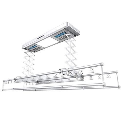 Baoniansoo Elektro-Wäscheständer Intelligente Fernbedienung Sprachsteuerung - Decken- und Wandtrockner mit automatischer Hebefunktion, weiß