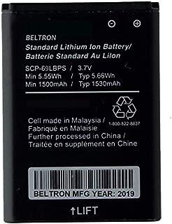 New BELTRON SCP-69LBPS 1530 mAh Replacement Battery for Kyocera Flip Phone - DuraXA (US Cellular), DuraXE (AT&T), DuraXV (Verizon), DuraXTP (Sprint) - BLT-SCP69LBPS