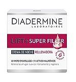 Diadermine Lift+ Super Rellenador Crema de Noche, con Micro Cápuslas de Ácido Hialurónico, para Pieles Maduras, Acción Antiarrugas, 50 mililitros