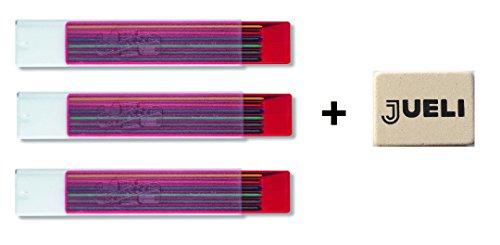 【KOH-I-NOOR】コヒノール 2ミリ カラー芯 6色セット 4301 x 3セット