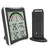 BAIRU Estación meteorológica inalámbrica interior exterior termómetro higrómetro sensor de pronóstico