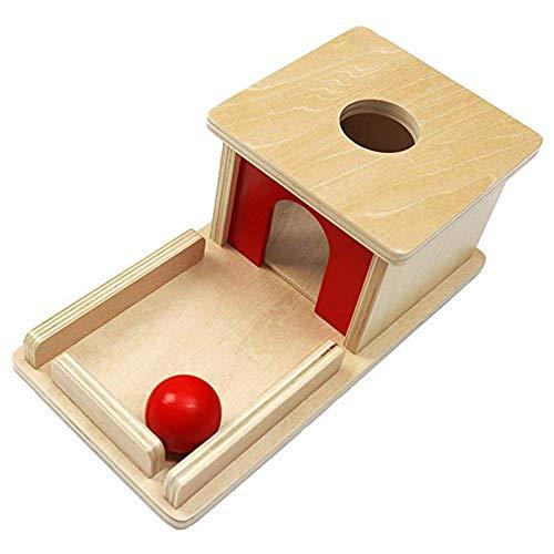 Schildeng Caja de objetivos permanentes para niños, juguete educativo Montessori, caja de madera con bandeja