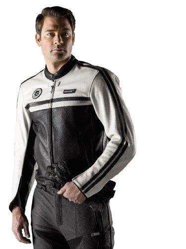 Racer Dexter Lederjacke, Braun-Beige, Größe 58