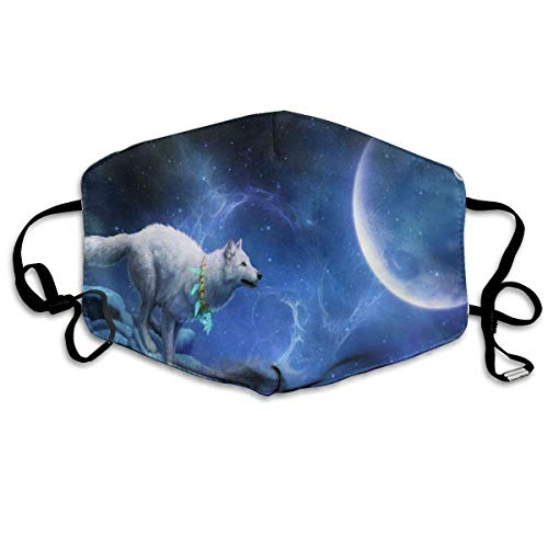 Gezichtsmaskers lopen wolf 's nachts sportmasker tegen stof beschermde glimlachende maskers wasbaar herbruikbaar mondmasker wit