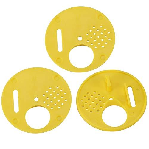 SALUTUYA Colmena de plástico Nuc Bee Box Caja de Entrada Puertas de Entrada Orificio de ventilación de Colmena Equipo de Apicultura en un Juego Caja de Abeja para Apicultura