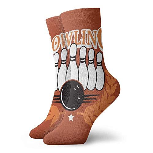 Love girl Unisex Crew Socken Bowling Ball Fashion Neuheit Dry Sportsocken Strümpfe 30cm