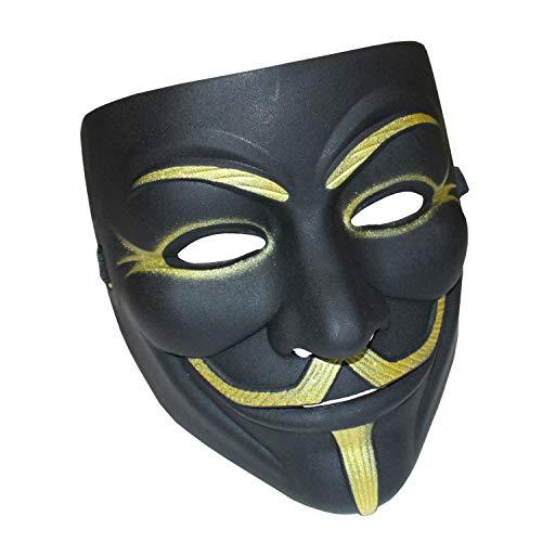 YCL Halloween Masks V for Vendetta Mask, Hacker Masks Resin Cosplay Mask Party Costume Prop Toys