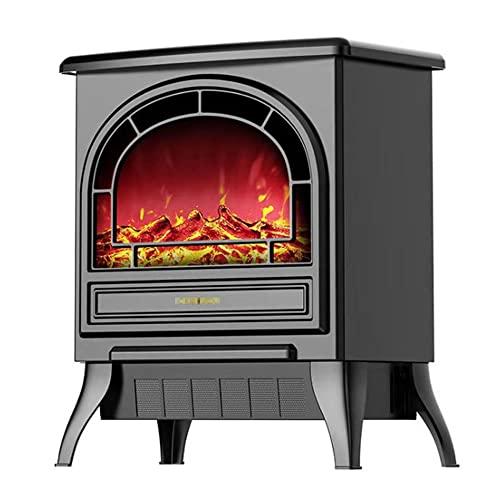Estufas de pellets con efecto quemador de leña, diseño de arco, portátil independiente, luz LED de combustión de madera, 1800 vatios