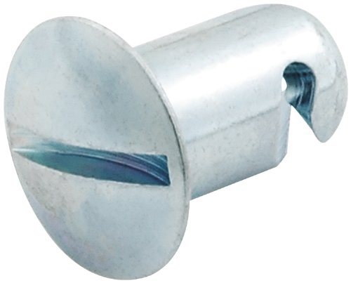 """Allstar Performance ALL19286 0.500"""" Long Aluminum Quick Turn Oval Head Button, (Pack of 10)"""