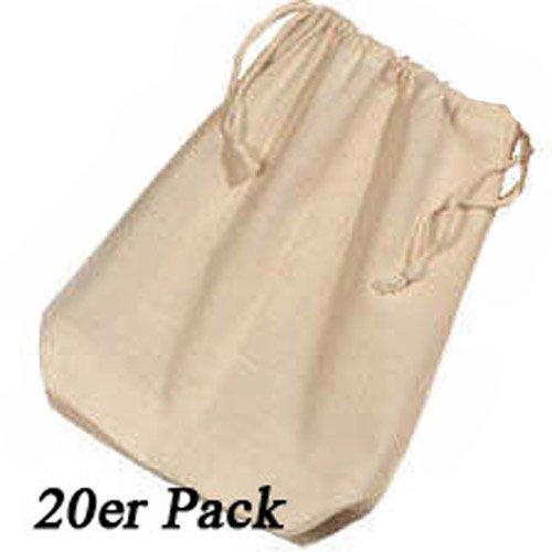 20er Pack Baumwollbeutel 17x20 [Spielzeug]