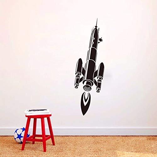 Rocket Vinyl Sticker Adhesive Wall Art Niños Creative Art Design Dormitorio Pegatinas de pared Decoración Inicio 42X140Cm