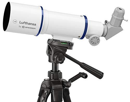 Lufthansa Reise Teleskop 70/350 Refraktor mit Stativ und Zubehör zum Beobachten von astronomischen und terrestrischen Objekten