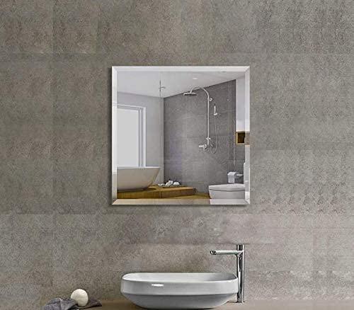 Quality Glass Frameless Decorative Mirror Glass for Wall Mirror Bathrooms Home Mirror Decor Size : 12 x 12 Inch QG 126