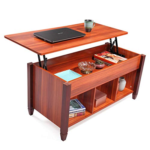 Lift Top Convertible Coffee Table w/Hidden Compartment Storage Shelf Living Room