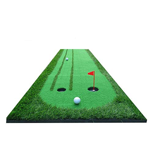 Golf Putting Green Training Mat, Golf Putting Trainer Eyeliner Twee-weg Indoor Praktijk Groenen Grootte (0.75 × 3m)