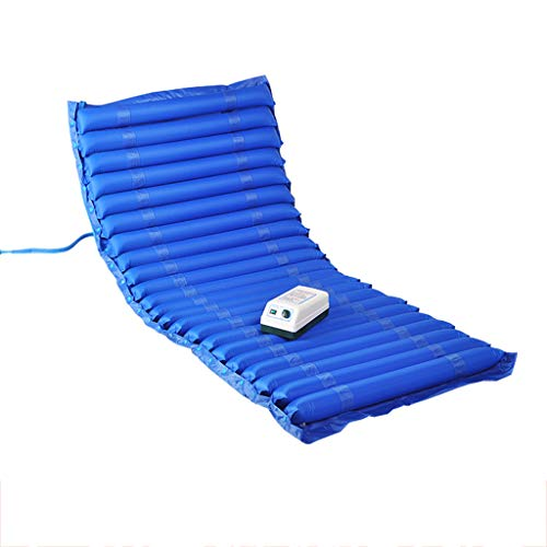 LSVRGI Anti-Bedsores Inflatable Mattress, Alternating Pressure Mattress, Cushion Anti-Decubitus Air Mattress with HoleIncludes Electric Pump, Blue