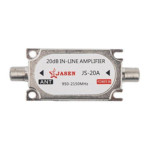 Mumaxun Satellite Signal Booster 20Db Gain Inline Amplifier 950-2150MHZ for RG6 Cables Dish Network Antenna AMP Directv FTA
