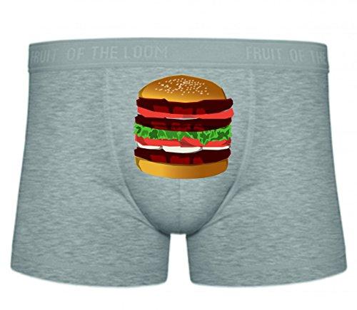 Druckerlebnis24 Boxershort Burger- Hamburger- Lebensmittel- Sandwich- Fleisch- Cheeseburger- Abendessen- Mittagessen- RINDFLEISCH- SCHMACKHAFT S- XXL Sexy Unterhose Slip Shorts