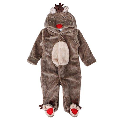 SMARTLADY - Invierno Ciervo Romper Pijama de Bebé Niños Ni