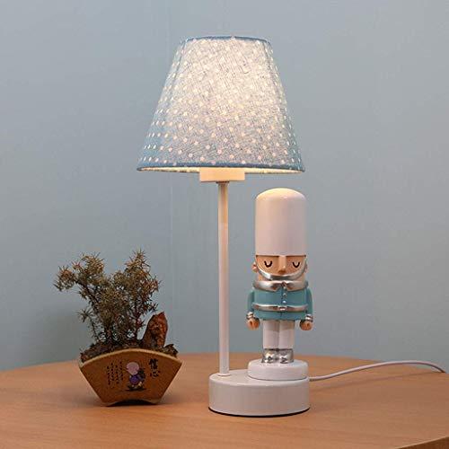 Lámparas de escritorio Habitación para niños Soldado de dibujos animados Lámpara de mesa Dormitorio Lámpara de noche Creativa Cálida Romántica Linda niña Niño Lámpara de mesa decorativa (Color: B