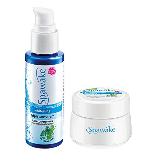Spawake Whitening Triple Care Serum (45ml) + Whitening Ultra Fresh Gel Cream(25g), Combo Pack