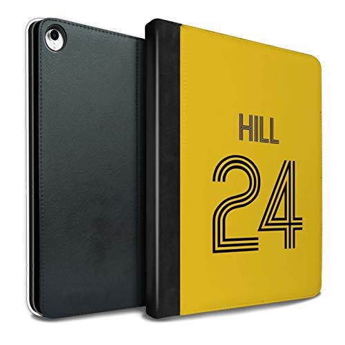 Personalisiert Individuell Fußball Vereine Trikots Kit PU-Leder Hülle für iPad Pro 10.5 (2017) / Gelb Schwarz Design/Initiale/Name/Text Tablet Schutzhülle/Tasche/Etui