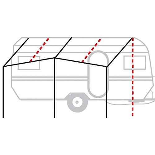 Berger Basisgerüst Aluminium 28mm Gestänge Stange Anbau Camping Wohnwagen Gerüst Zeltgestänge Silber