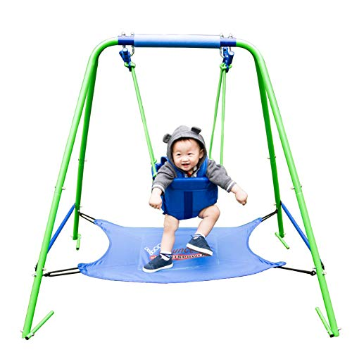 Sportspower My First Toddler Swing with Bouncer, Green/Blue