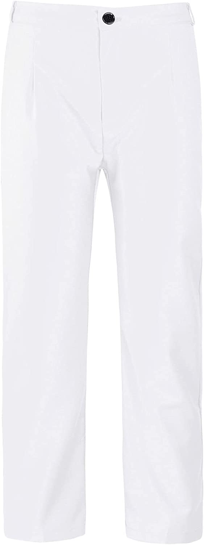 CHICTRY Kids Boys Dress Pant Front Slant Elastic Waistband Formal Party Suit Pant